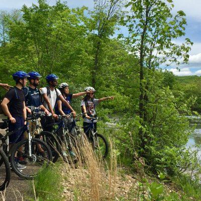 outdoors biking