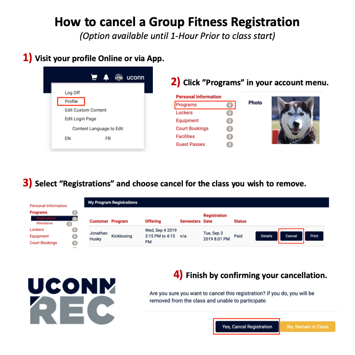 Group Fitness Cancellation