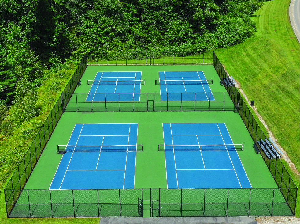 tennis courts playing fields sports courts