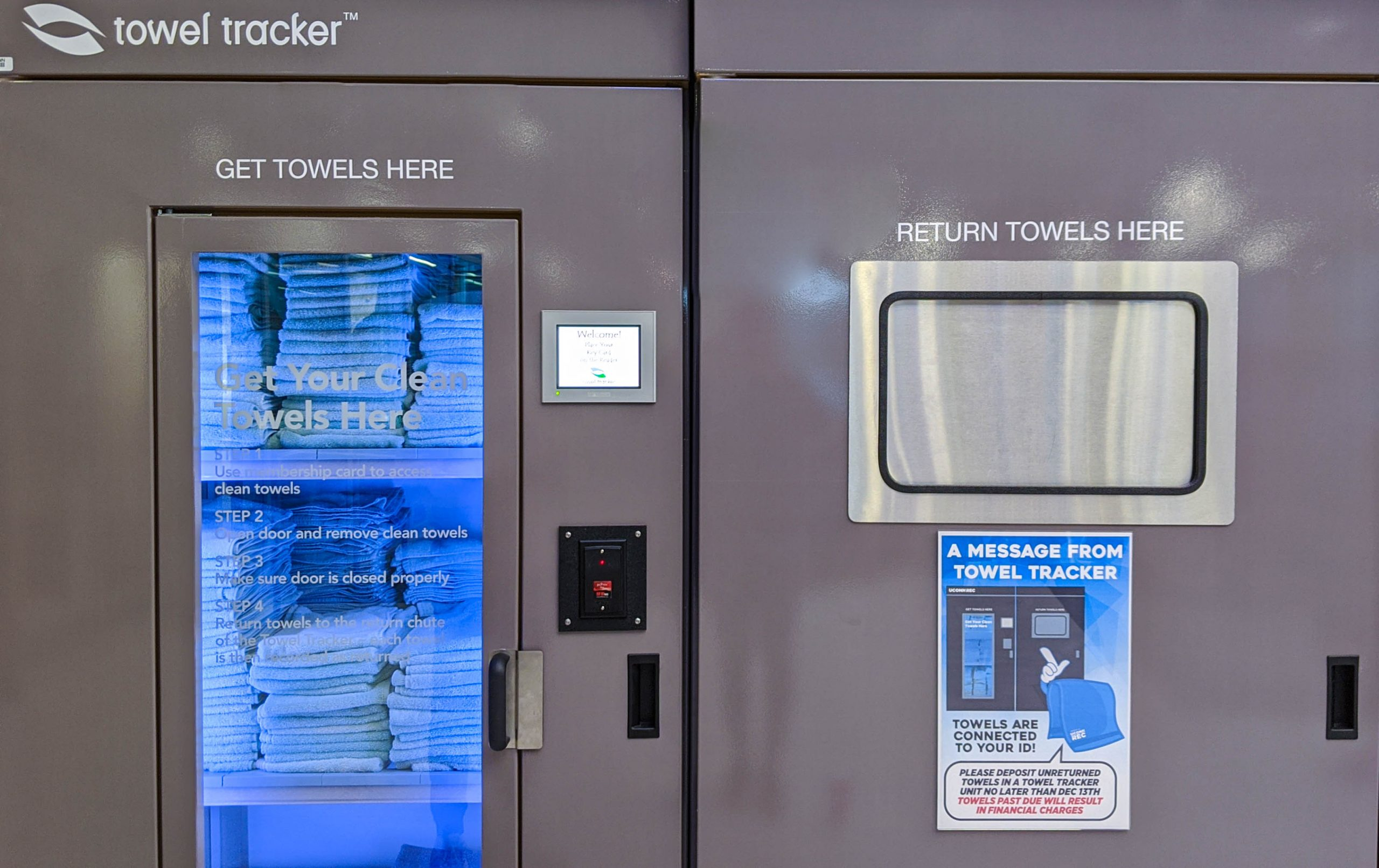Towel Tracker Kiosk