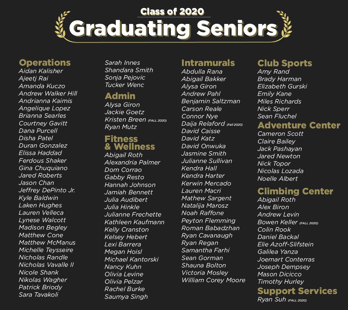 Graduating Seniors 2020