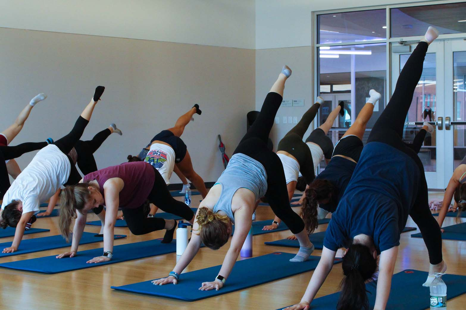 photo of group fitness class